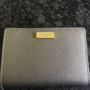 Kate Spade Silver Metallic Wallet